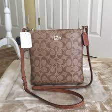 AuthenticCoach Signature North South Crossbody Bag