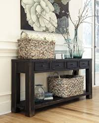 entrance table with drawers. Dark Rustic Console Table With Drawers And A Shelf Entrance B
