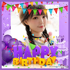 happy birthday frame with photo