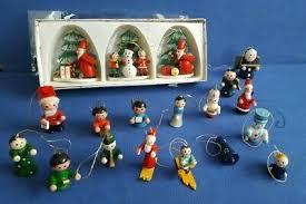 Vintage Christbaumschmuck Erzgebirge Weihnachten Holzfiguren