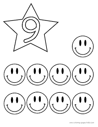 Small Picture Number 9 Says Nine Coloring Page Free Printable Coloring Pages