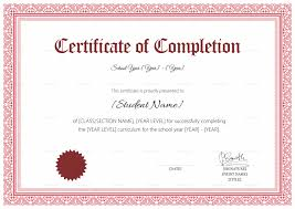 Completion Certificate Sample School Completion Certificate Design Template In Psd Word