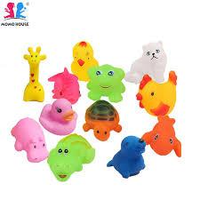 momo house 12 pcs cute animal bath mini toys