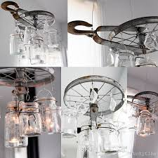another cool mason jar chandelier