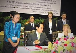 the vientiane partnership declaration was signed at the 12th high level round table meeting on 27