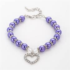 Imitation Pearl Rhinestone Pendants Cute <b>Dog</b> Necklace <b>Pet</b> Collar ...