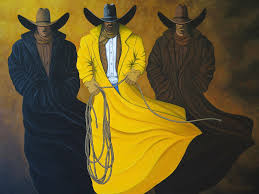 cowboys painting three brothers by lance headlee