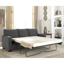 Sofa bed with chaise Modular Signature Design By Ashley Zeb Queen Sofa Sleeper In Charcoal Nebraska Furniture Mart Sofa Beds Nebraska Furniture Mart