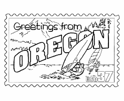 Small Picture USA Printables Oregon State Stamp US States Coloring Pages