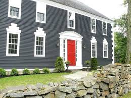 white front door blue house. Blue House Red Door Gray Front To Boost Positive Energy Of . The Manicured White