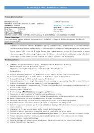 Maintenance Resume Sample Suiteblounge Com