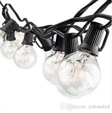 25ft g40 globe string lights fairy bulb light with 25 clear bulbs ul listed indoor outdoor light garden party wedding decoration battery powered led