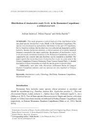 (PDF) Distribution of Amelanchier ovalis Medik. in the Romanian ...