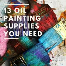 a great supply list for artists who are trying to paint in oils
