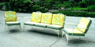 green patio furniture wrought iron outdoor lawn ideas metal t
