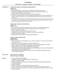 Sample Sports Resume Sports Producer Resume Samples Velvet Jobs