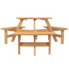 6-Person Wooden Picnic Table