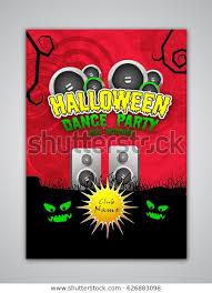 Halloween Dance Flyer Templates Halloween Dance Party Flyer Template Banner Stock Vector