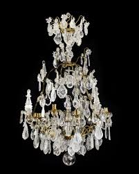 rock crystal chandelier lighting style