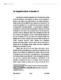 an exegetical study of genesis university historical and page 1 zoom in