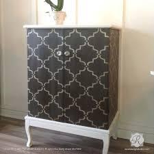 image stencils furniture painting. painting wood furniture with moroccan trellis designs moorish stencils royal design studio image t