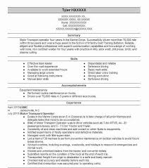 Marine Corps Resume Magnificent Motor Transport Operator Resume Example USMC Midway Park North