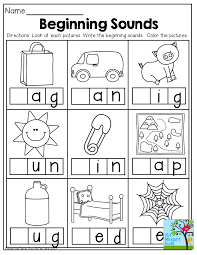 Download free, printable phonics worksheets and activities on a variety of topics such as click on the category or resource type below to find printable phonics worksheets and teaching activities. Beginning Sounds And Tons Of Other Back To School Printables Beginning Sounds Worksheets Phonics Preschool Worksheets
