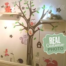 woodland forest tree wall decal in a room