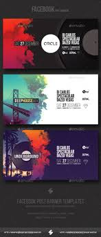 electronic party vol3 facebook post banner templates psd template inspiration vinyl