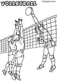 Small Picture Volleyball coloring pages Coloring pages to download and print