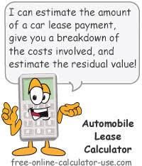 car leases calculator automobile lease calculator to calculate car lease payment