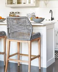 kitchen bar stools with arms. these woven rope counter stools are such a fun, unexpected kitchen accent! barstools for white kitchen! bar with arms s