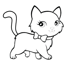 Printable Cat Coloring Pages Kittens Coloring Pages For Adults Cat