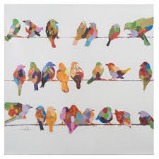 most cur yosemite home decor birds on a wire ii original hand painted in