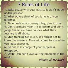 7 Rules Of Life Quote