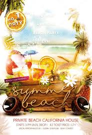 Beach Flyer Beach Party Flyer Barca Fontanacountryinn Com