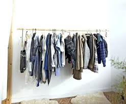 how to hang a closet rod double hanging height for triple without studs