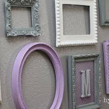 baby nursery decor wall letter monogram frame purple and g