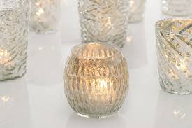 silver mercury glass candle holders