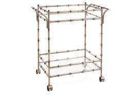 bamboo bar cart. Bamboo Bar Cart | Silver