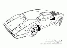 Coloring Pages Lamborghini Coloring Home