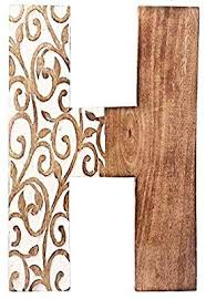 Free returns 100% money back guarantee fast shipping Aheli Wooden Home Wall Decor Sign Alphabet Letter H Bollywood Wedding Birthday Party Decorations Home Wall Decor Wall Decor Wooden Letters