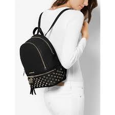 michael kors backpacks black michael michael kors rhea medium studded leather backpack 30s7gezb2l