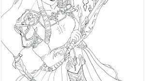 Legend Of Zelda Twilight Princess Coloring Pages Link And