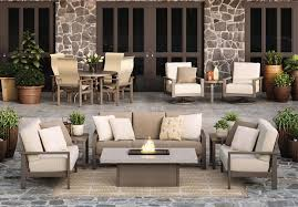 outdoor living space with patio furniture