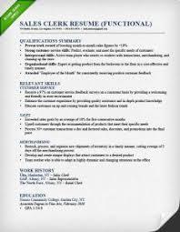 sales clerk functional resume example examples of functional resumes