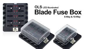 how to ols atc ato led illuminated fuse box usage & installation Blade Fuse Tap at 30a Mini Blade Fuse Box
