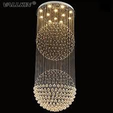 vallkin crystal chandeliers villa living room lighting fixtures duplex rotation ceiling pendant light with d80cm crystal chandeliers modern