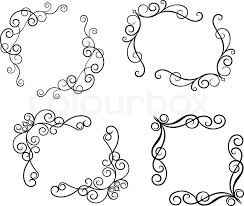 Design And Decorate Simple Swirl Elements And Monograms For Design And Decorate Stock Vector