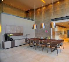 high ceiling lighting. dining room with modern silver drum pendant chrome high ceiling lighting fixtures and square brown laminated wooden table i